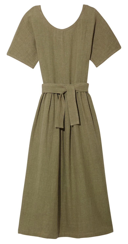 Image of SCOOP NECK DRESS OLIVE