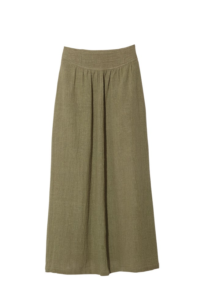 Image of BAND SKIRT OLIVE