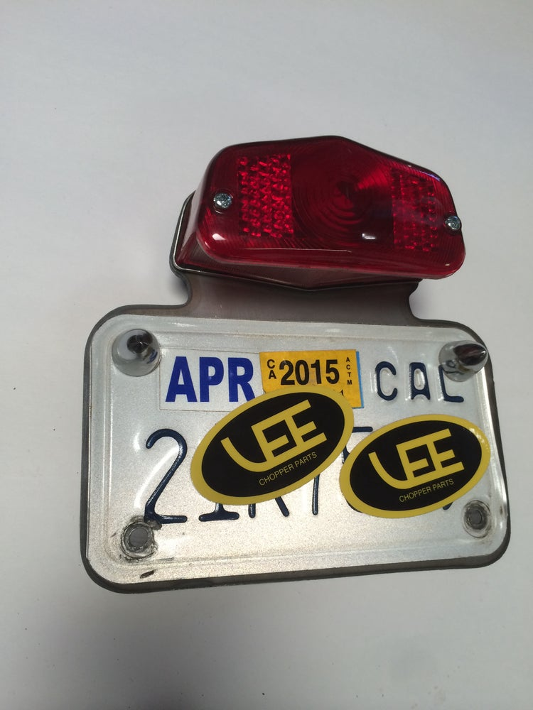 Image of LUCAS style tail light/ license plate bracket