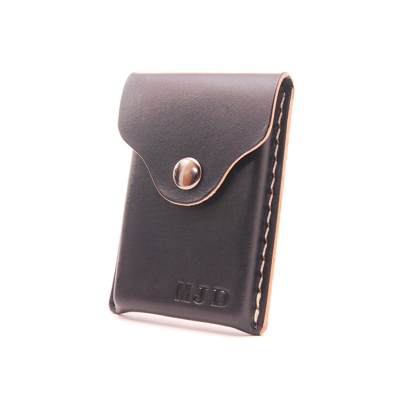 image of leather business card holder personalized - Leather Business Card Holder