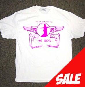Image of White Be Real tshirt