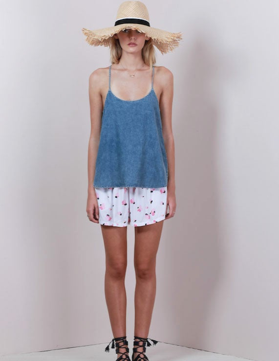 Image of LILYA Conti Top - Stone Wash Chambray