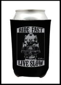 "Image of Koozies! Back in stock. ""Ride Fast, Live Slow"" Koozie."