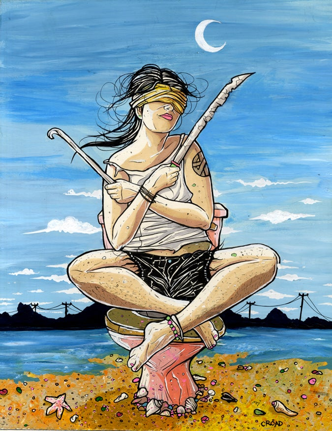 Image of NEXT WORLD TAROT: Two of Swords