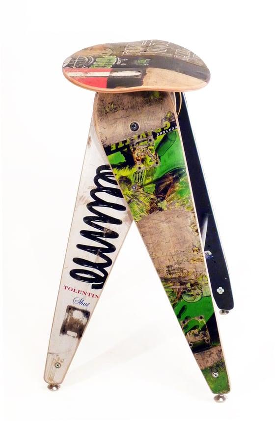 "Image of Recycled Skateboard Barstool - 29"" Bar Height Stool"