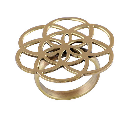 Image of Mandala Brass Ring