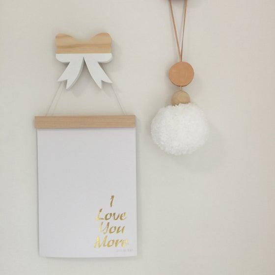 Image of 'I Love You More' Gold Foil Print