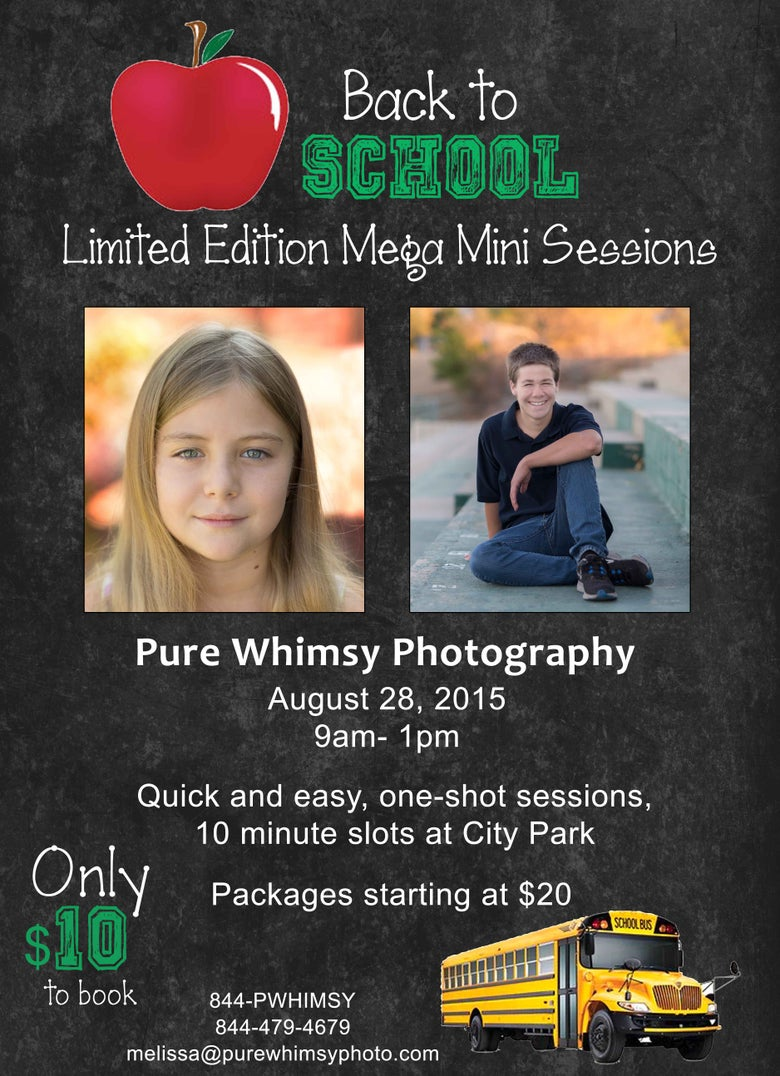 Image of Back to School Limited Edition Mega Mini Sessions