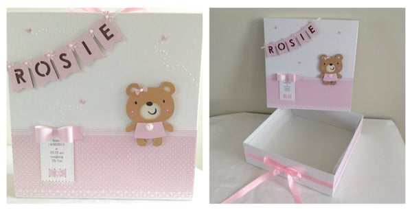 Image of Personalised Baby Girl Memory Box