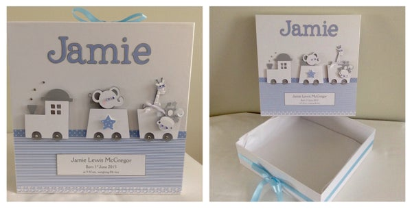 Image of Personalised Baby Boy Memory Box