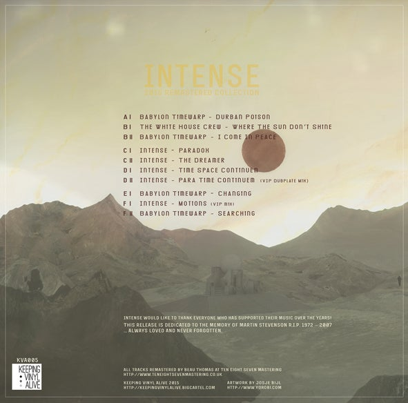 "Image of Intense - 2015 Remastered Collection - KVA005 - 3x12"" Vinyl - SOLD OUT"