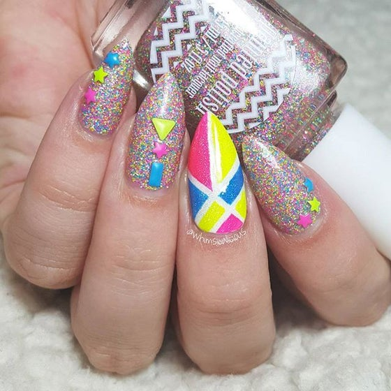 Image of Mixed Neon Studs - Shapes