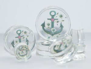 Image of Clear Acrylic Anchor Flesh Plugs
