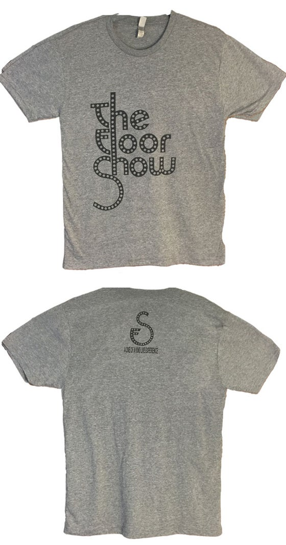 Image of Men's Tee - Light Grey/Black Logo