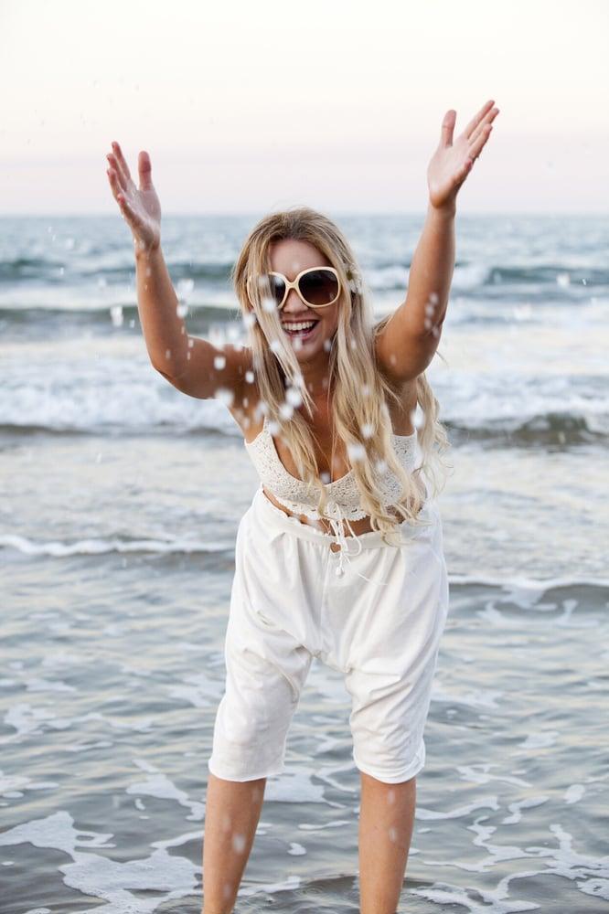 Image of Beach Shorts - Organic Natural ⚪️