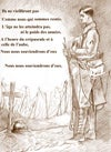 'For the Fallen' by Laurence Binyon ( French text )