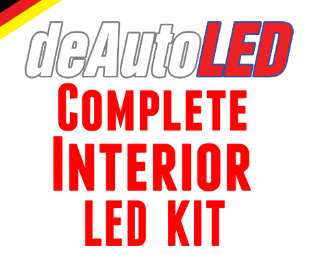 Image of Complete Interior LED Kit [Crisp White / Error Free] fits: Audi D3 A8 (03-10) / S8 (06-09)