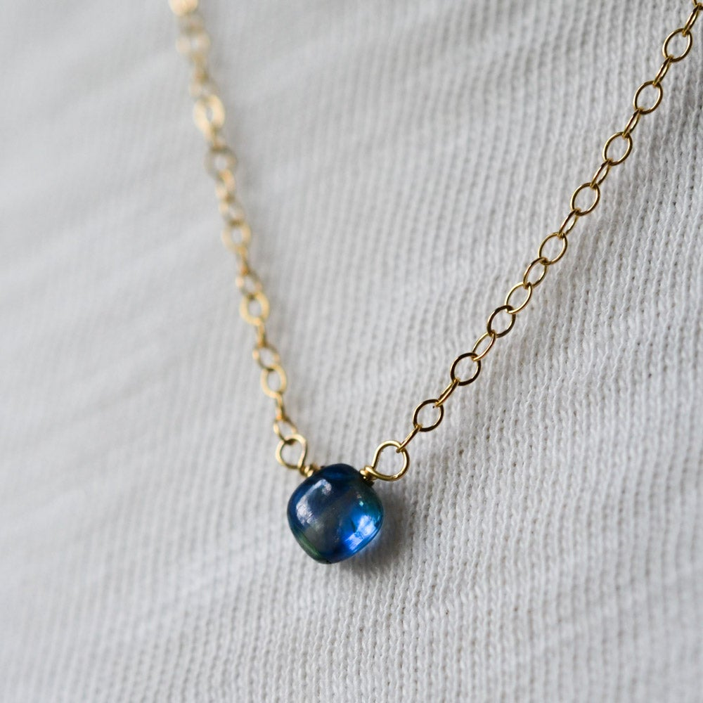 Image of Tiny kyanite necklace