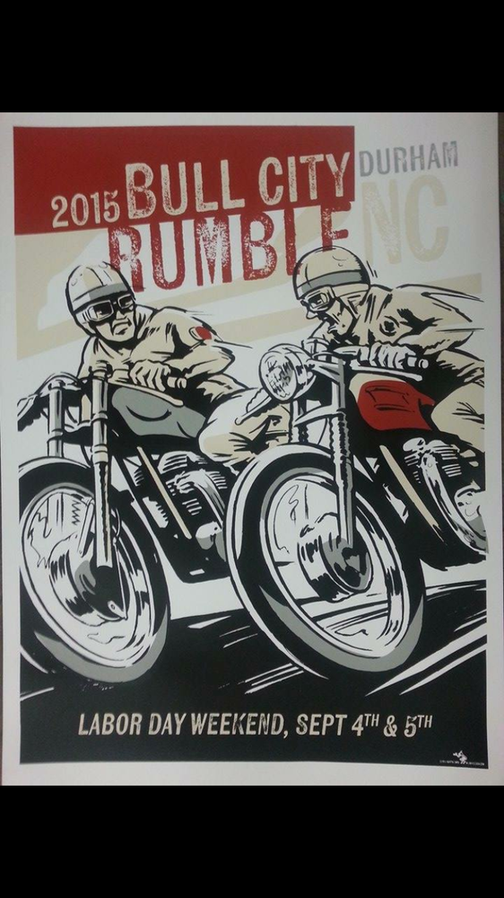 "Image of 2015 Bull City Rumble Lg. 18"" x 24"" Hand Screened & Signed Print"