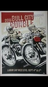 "Image of 2015 Bull City Rumble Lg. 18"" x 24"" Hand Screened & Signed Print"
