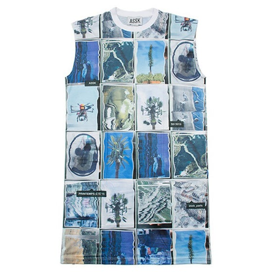 Image of WARPED COLLAGE X-Long T-Shirt - Colour