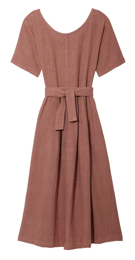Image of SCOOP NECK DRESS MOCHA