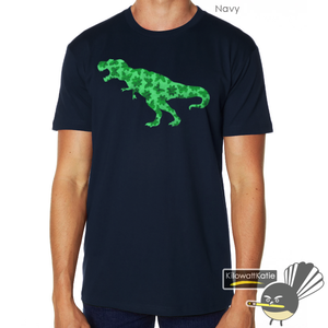 Image of GREEN PRETTY REX - printed tees