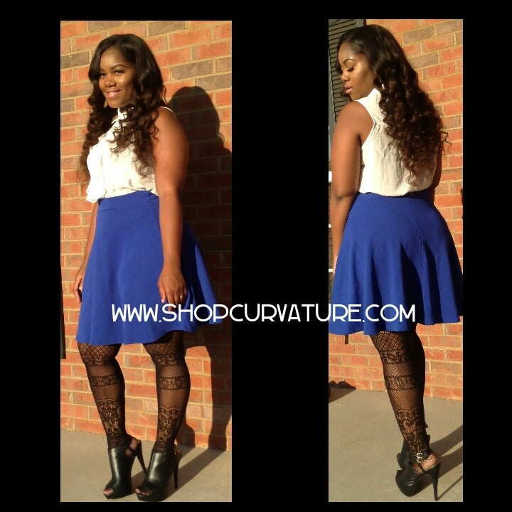 Image of Royal Blue Skater Skirt