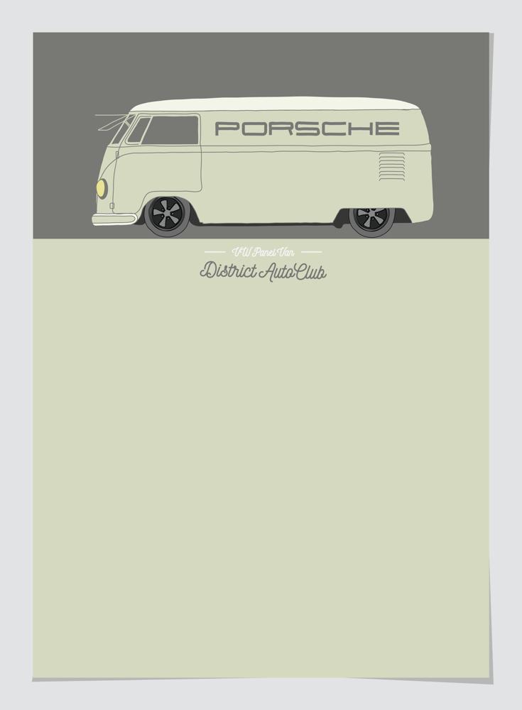 Image of Porsche Racing VW Van