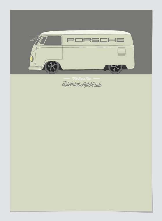Image of Porsche Racing VW Van