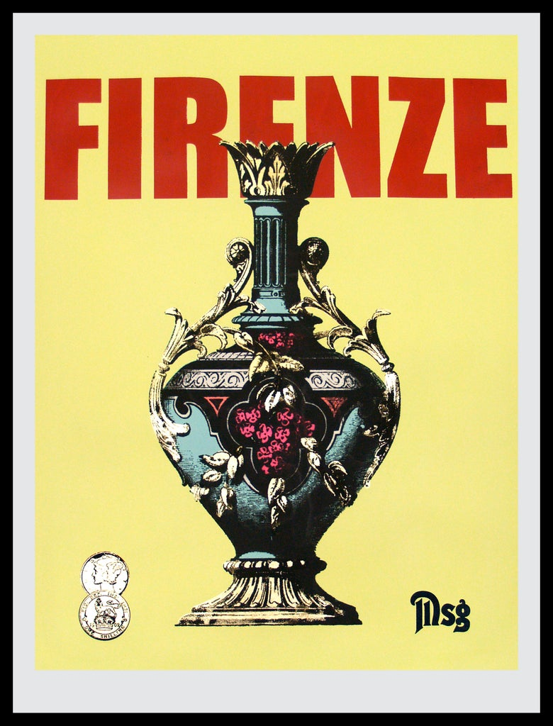 Image of Firenze -Urn-Naples Yellow/Red
