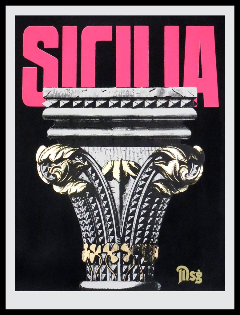 Image of Sicilia -Column-Black/Pink