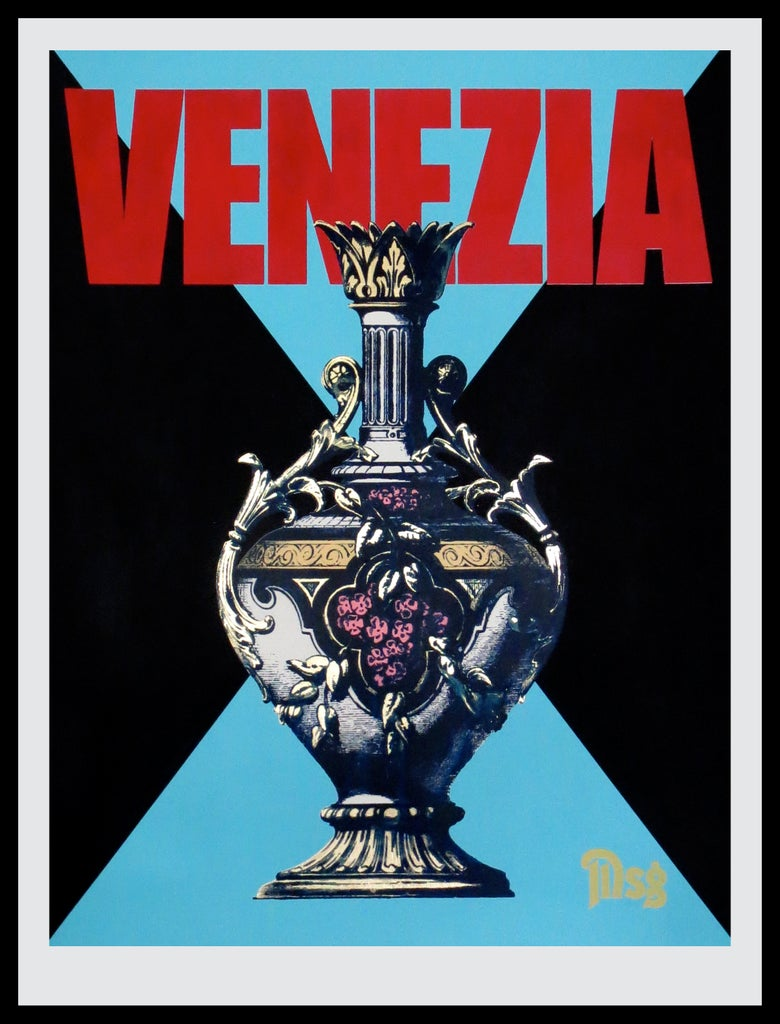 Image of Venezia -Urn-Black/Blue/Red