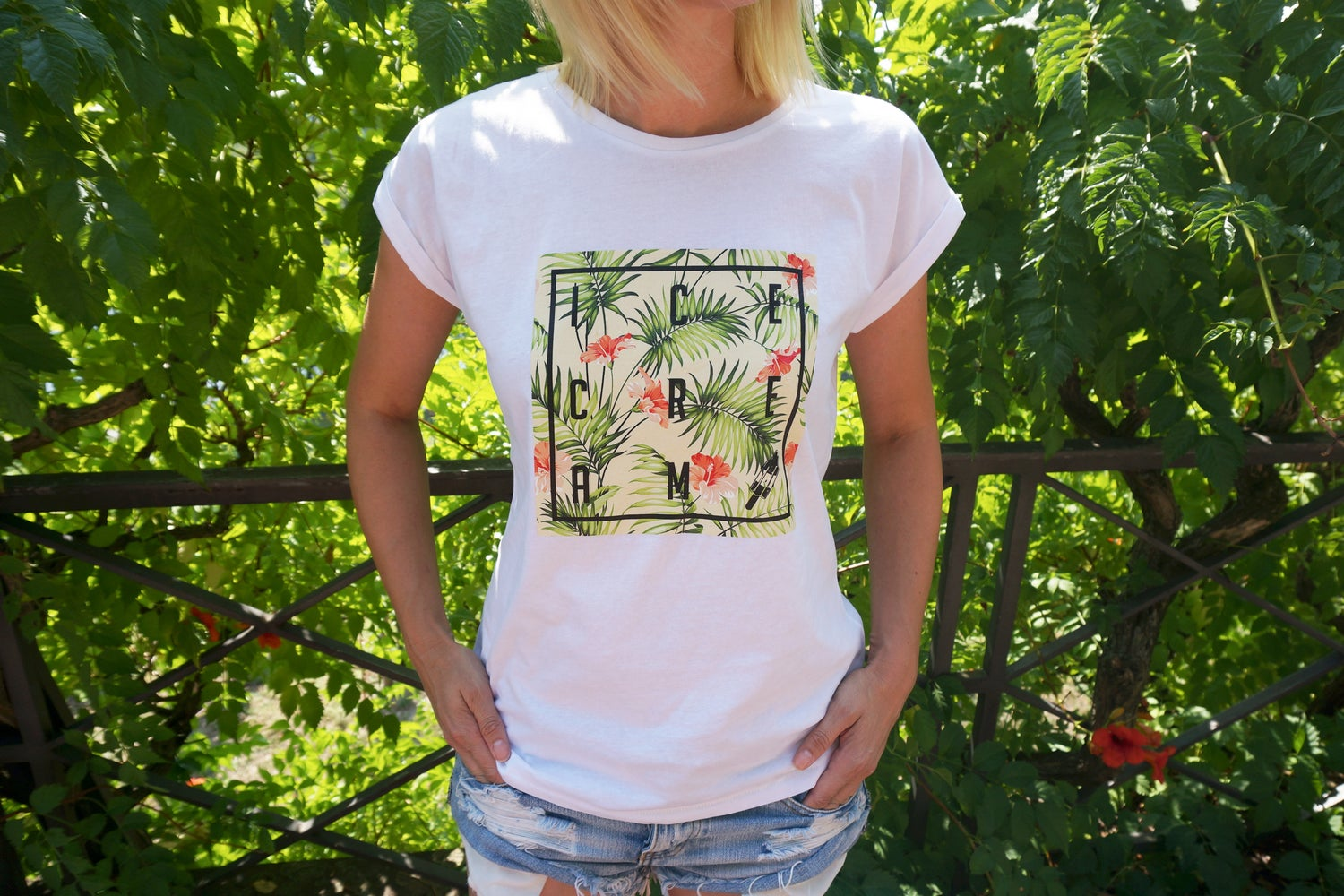 Image of SUMMER PARADIES LADIES Extended Shoulder Tee