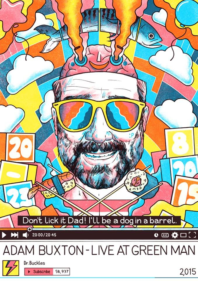 Image of Adam Buxton - Green Man 2015 Poster
