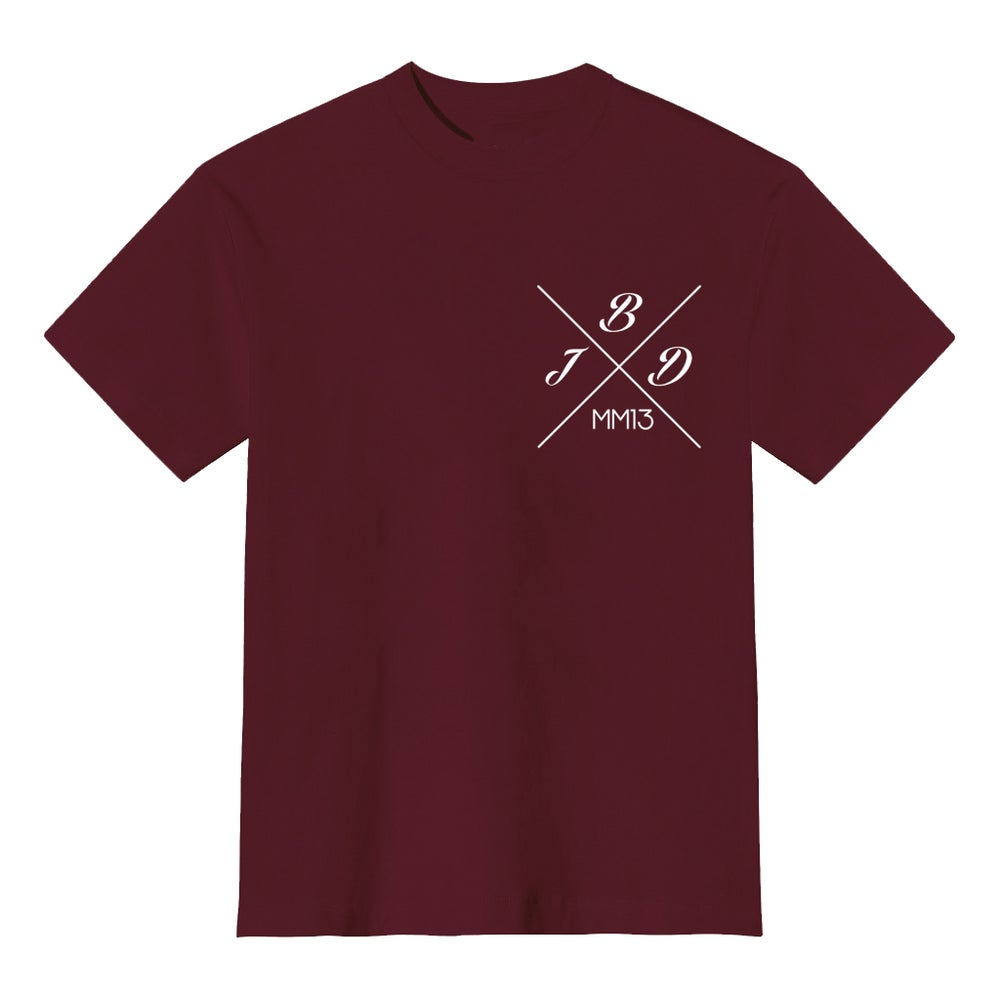 Image of Maroon JBD Hope Tee