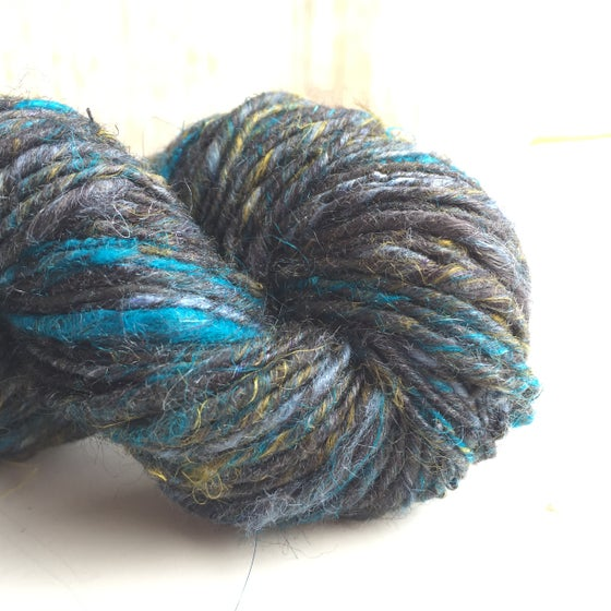 Image of Summer People: Cobalt // wool-free luxury handspun yarn with silk, bamboo & hand dyed blues, greens