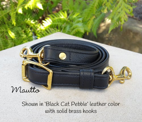 """Image of 55"""" (inch) Adjustable Leather Strap - .75"""" Wide - Your Choice of Leather Color & Hook #19"""