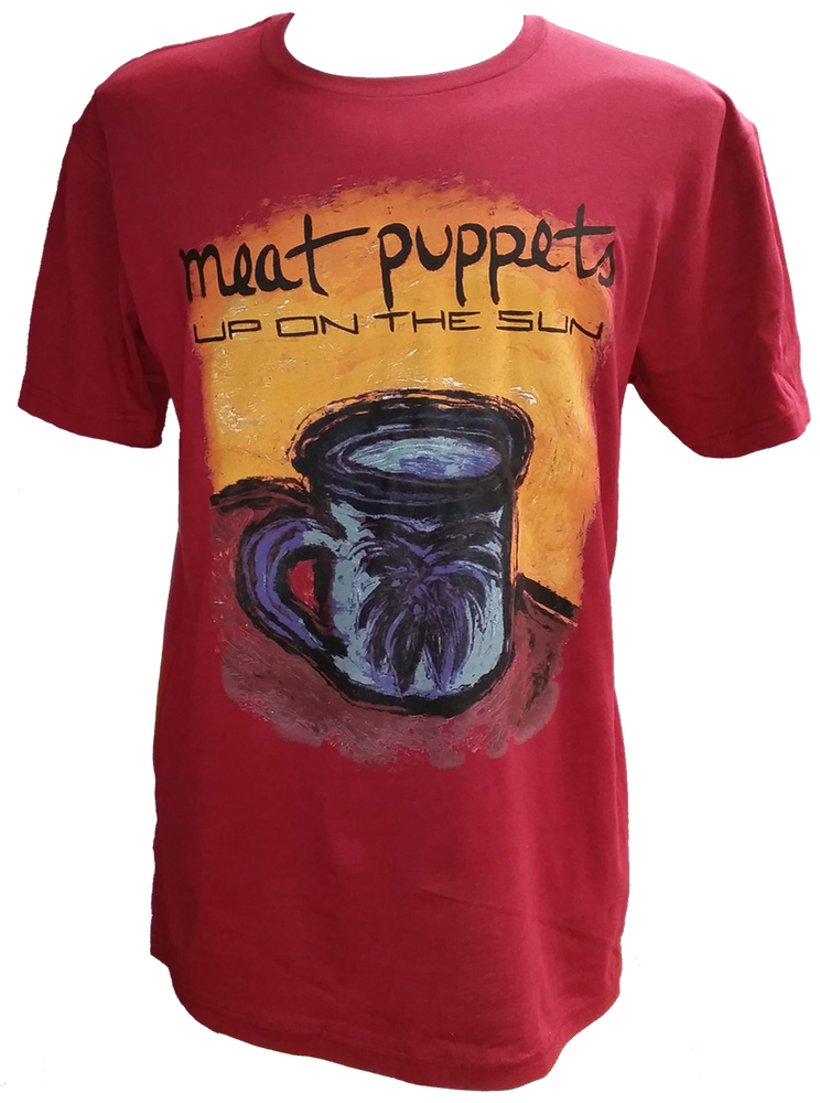 "Image of MEAT PUPPETS ""UP ON THE SUN"" MAROON T-SHIRT"