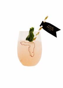Image of Palm Beach Lately Florida Stemless Acrylic Wine Glass