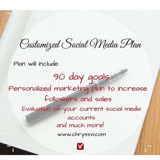 Image of Customized Social Media Plan