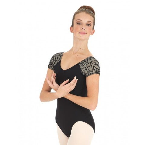 Image of Leotard - Cap Sleeve Lace