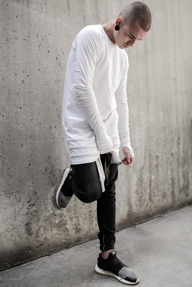 Image of Urban Flavours Mental Extended LongSleeve White