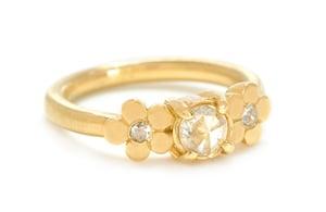 Image of 18K Cala Lily Diamond Ring