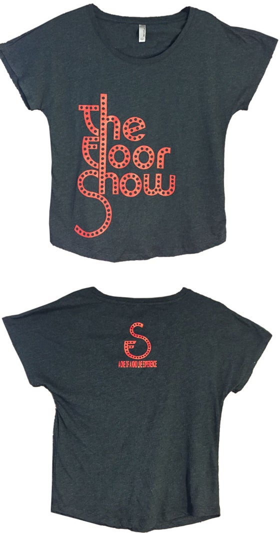 Image of Women's Tee - Dark Grey/Red Logo