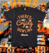 Pinkingz Bowling T-Shirt - There's No Crying In Bowling    Black Silver Orange
