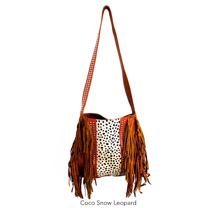Image Of Samadi Leather Fringe Bag