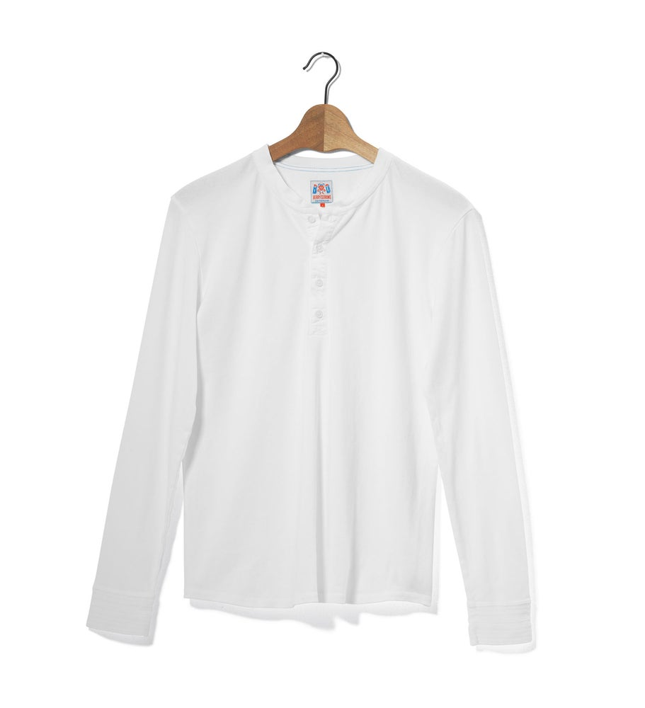 Image of Henley 1/1 White