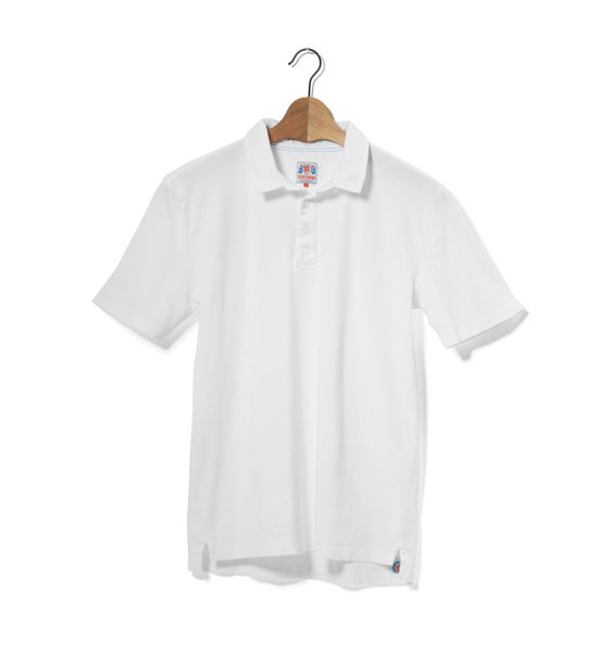 Image of Polo 1/4 White