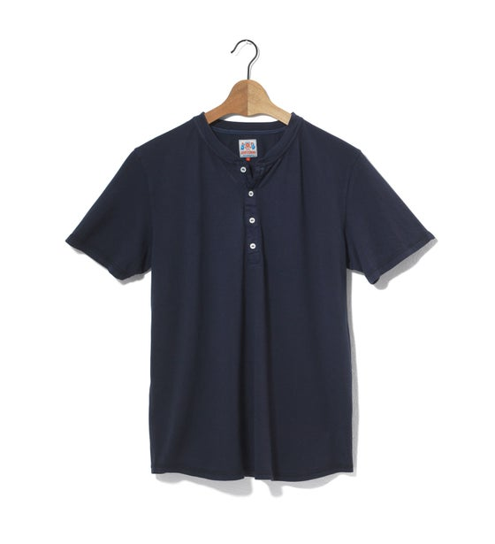 Image of Henley 1/4 Navy